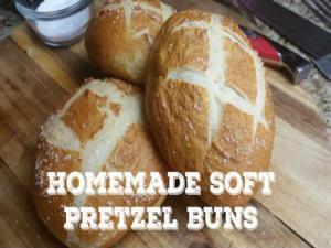 Homemade Pretzel Buns