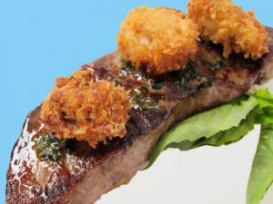 Steak And Fried Oysters
