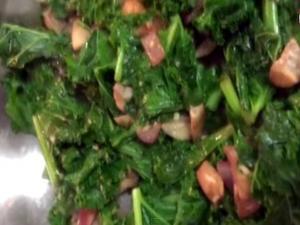 Kale Sautee Side Dish Vegan