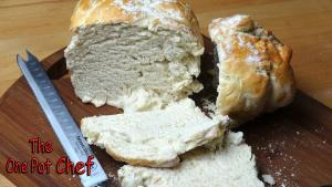Country Style Loaf Of White Bread One Pot Chef