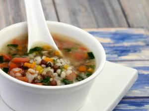 Nourishing Barley Soup Diabetic And Cholesterol Friendly By Tarla Dalal