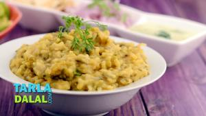 Spicy Green Moong Dal Khichdi 1019947 By Tarladalal