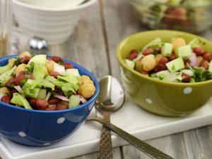 Lettuce And Bean Salad Iron Rich Recipe By Tarla Dalal