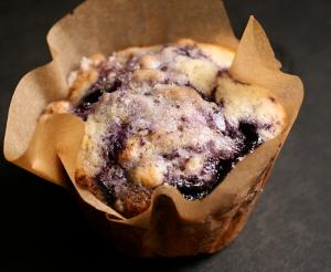 Cinnamon Sugar Blueberry Muffins