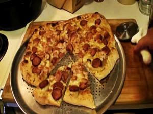 Shrimp Andouille Sausage Pizza