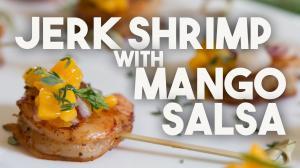 Jerk Shrimp With Mango Salsa One Bite 1017085 By Kravingsblog