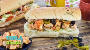 Paneer Tikka Sub Sandwich 1016140 By Tarladalal