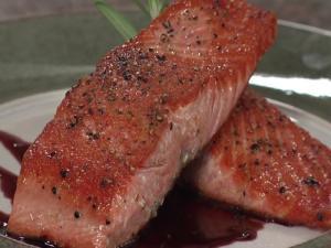 Honey Wine Glazed Salmon