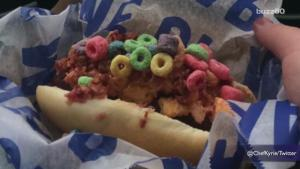 Cleveland Indians Selling Hot Dog With Cheese Bacon And Fruit Loops 1015646 By Buzz 60