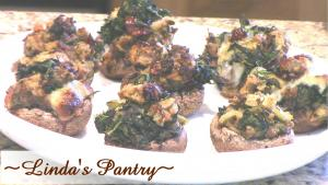 Spinach Dressing Stuffed Mushrooms