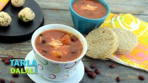 Mexican Tomato Soup With Cottage Cheese Balls 1017434 By Tarladalal