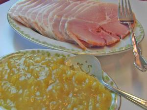 Bettys Baked Country Ham With Brown Sugar Pineapple Sauce Christmas