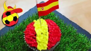 Spain World Cupcake