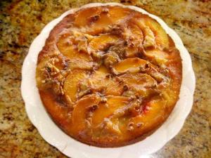 Gingerbread Peach Upside Down Cake
