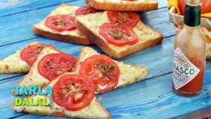 Tomato Cheese Toast 1015655 By Tarladalal