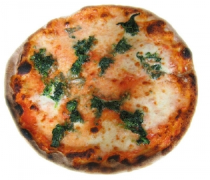 Cheese And Spinach Tortilla Pizza