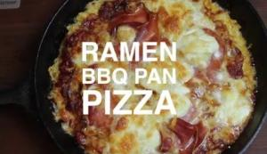 Ramen Bbq Pan Pizza