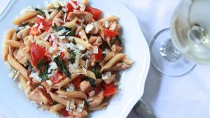Tomato Basil Pasta Salad W Cajun Chicken 1016612 By Divascancook