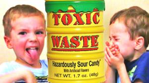 Toxic Waste Challenge Extreme Sour Candy Kids Edition