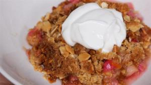 Rhubarb And Ginger Crumble Recipe 1006309 By Videojug