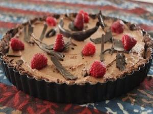 Raspberry Chocolate Mousse Tart