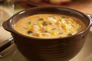 Butter Chicken Corn Soup