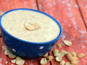 Peanut Curd Chutney By Tarla Dalal