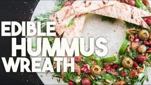Edible Hummus Holiday Wreath 1019585 By Kravingsblog