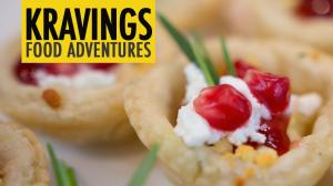 Goat Cheese With Rosemary And Pomegranate Tarts