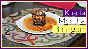 Khatta Meetha Baingan Sweet And Sour Eggplant Restaurant Style Appetizer 1016959 By Sruthiskitchen
