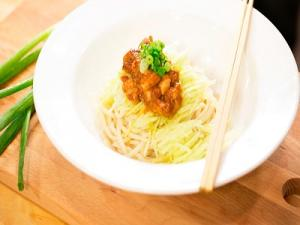 Chinese Noodles In Black Bean Sauce