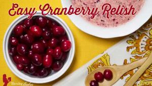 Easy Recipe For Cranberry Relish With A Kick