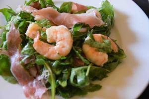 Summer Salad With Arugula Prosciutto And Shrimp 1018495 By Cookingitalianwithjoe