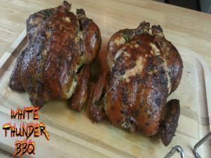 Smoked Herb Rubbed Chicken Recipe How To Smoke A Whole Chicken With The Smokenator