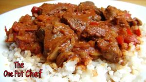 Slow Cooked Beef Goulash One Pot Chef