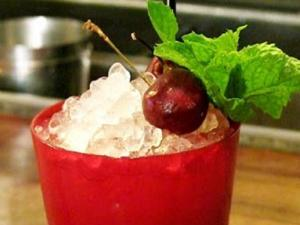 Cherry Swizzle Cocktail