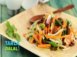 Carrot Cucumber And Rajma Salad