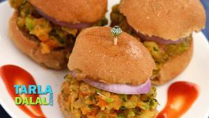 Mini Pav Bhaji Burgers 1016800 By Tarladalal