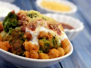 Chole Tikki Chaat By Tarla Dalal