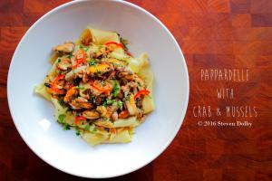 Pappardelle With Crab And Mussels