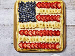 Stars Stripes Dessert Pizza
