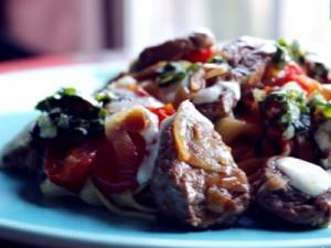 Beef Pasta With Horseradish Cream