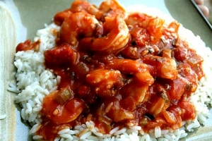 Microwave Shrimp Creole With Tomato Sauce