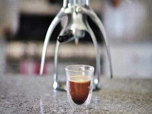 Rok Espresso Maker Cortado With Coconut Cream