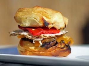 Grilling A Breakfast Sandwich