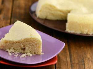 Eggless Vanilla Sponge Cake By Tarla Dalal
