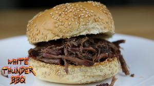 How To Make Pulled Beef Smoked Chuck Roast Sandwich 1019001 By Whitethunderbbq