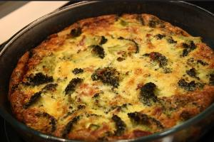 Crustless Cheese Broccoli Quiche