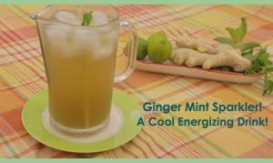 Ginger Mint Sparkler