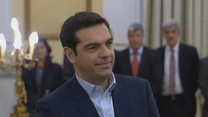 Greece Alexis Tsipras Sworn In As New Prime Minister